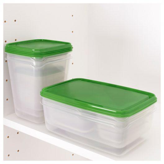 ظروف نگهدارنده 17 تکه سبز ایکیا مدل PRUTA