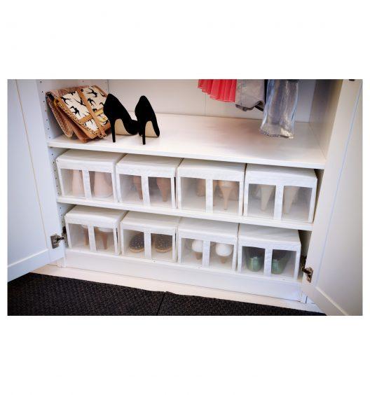 باکس کفش سفید ایکیا مدل SKUBB