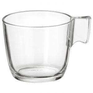 فنجان شیشه ای ایکیا مدل STELNA