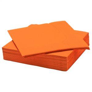 دستمال سفره نارنجی ایکیا مدل FANTASTISK
