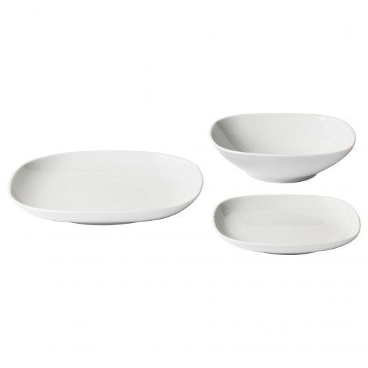سرویس 18 پارچه سفید ایکیا مدل VARDERA