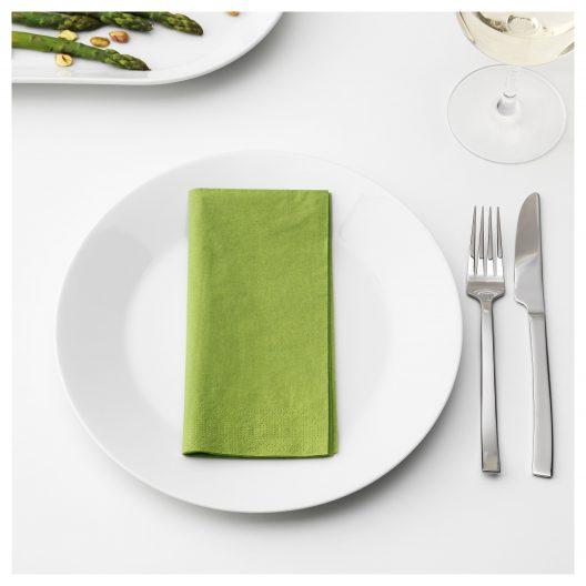 دستمال سفره سبز ایکیا مدل FANTASTISK