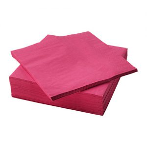 دستمال سفره سرخ آبی ایکیا مدل FANTASTISK