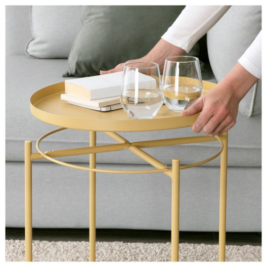 میز عسلی زرد ایکیا GLADOM
