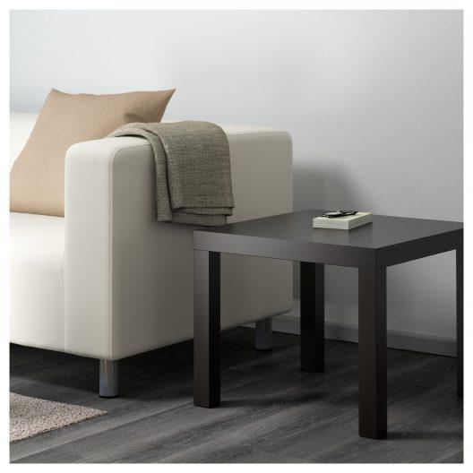 میز کنار مبلی قهوه ای سوخته ایکیا مدل LACK