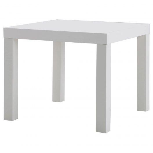 میز کنار مبلی سفید ایکیا مدل LACK