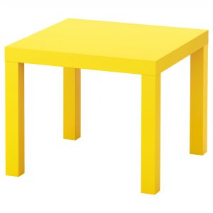 میز کنار مبلی زرد ایکیا مدل LACK