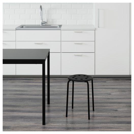 چهارپایه فلزی مشکی ایکیا مدل MARIUS