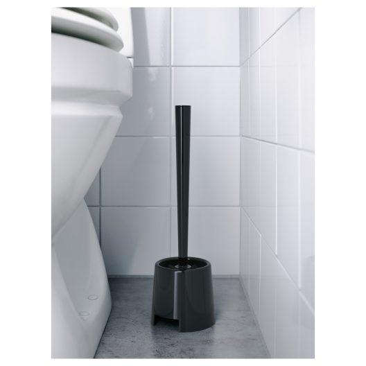 فرچه توالت مشکی ایکیا مدل BOLMEN