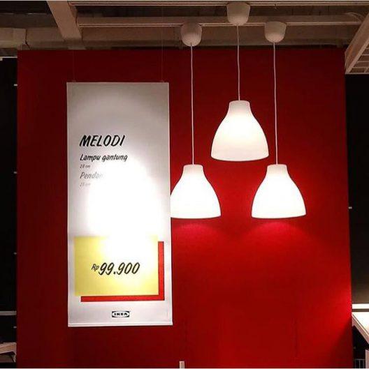 چراغ آویز ایکیا مدل MELODI