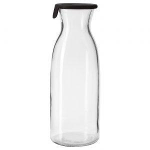 بطری آب شیشه ای ایکیا مدل VARDAGEN یک لیتری