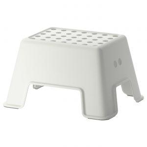 چهارپایه سفید ایکیا مدل BOLMEN