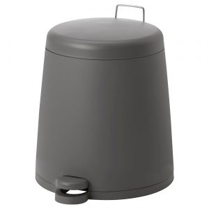 سطل آشغال طوسی ایکیا مدل SNAPP 12 لیتری