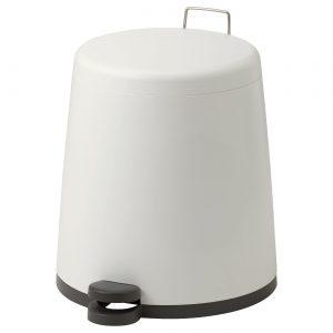 سطل آشغال سفید ایکیا مدل SNAPP 12 لیتری