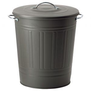 سطل آشغال طوسی ایکیا مدل KNODD 40 لیتری