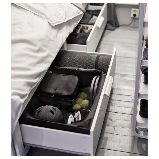 نظم دهنده زیر تخت مشکی ایکیا مدل SKUBB سایز کوچک