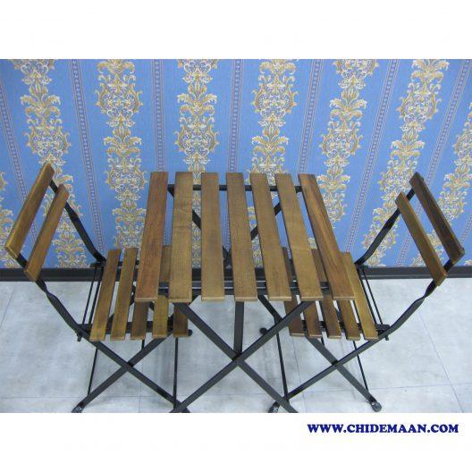 میز و صندلی بالکنی ایکیا مدل TARNO ساخت ایران رنگ تیره