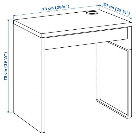 میز تحریر قهوه ای ایکیا مدل MICKE
