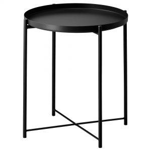 میز عسلی مشکی ایکیا مدل GLADOM