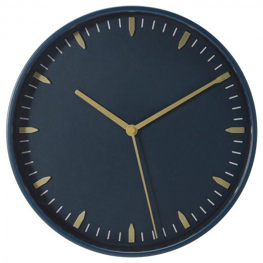 ساعت دیواری مشکی ایکیا مدل SKARIG
