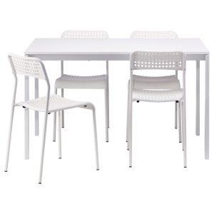 میز وصندلی نهار خوری چهار نفره ایکیا مدل MELLTORP