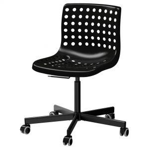 صندلی چرخدار مشکی ایکیا مدل SKALBERG