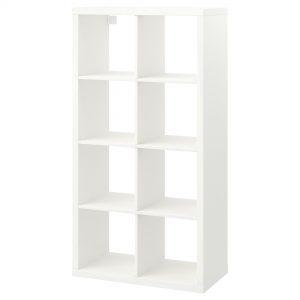 قفسه سفید هشت خانه مشکی ایکیا مدل KALLAX
