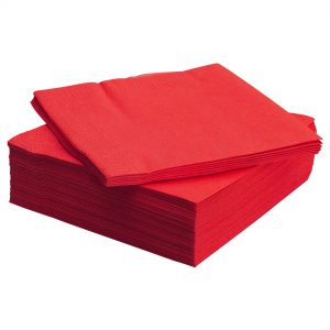 دستمال سفره قرمز ایکیا مدل FANTASTISK