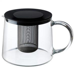 قوری شیشه ای 1/5 لیتری ایکیا مدل RIKLIG