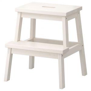 چهار پایه چوبی سفید ایکیا مدل BEKVAM