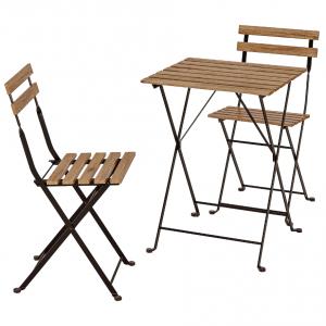 میز و صندلی طرح ایکیا رنگ تیره